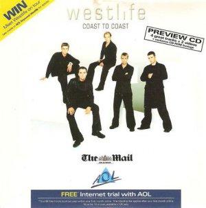 Westlife - Coast To Coast (promo album 'preview CD' sampler)