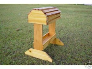 CEDAR Saddle Rack Stand with Tray