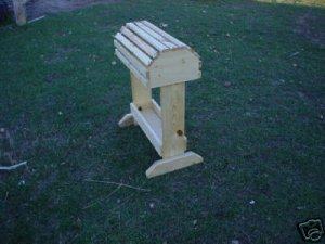 Pine Saddle Rack Stand with Tray