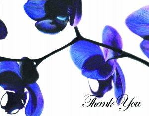 Night Orchid Thank You card
