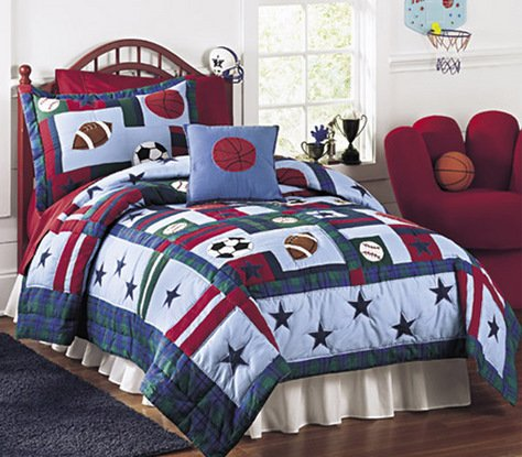 All Sports Mini Quilt with FREE* Shams Full