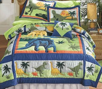 Living Land of Dinosaurs Quilts with FREE* Shams Full