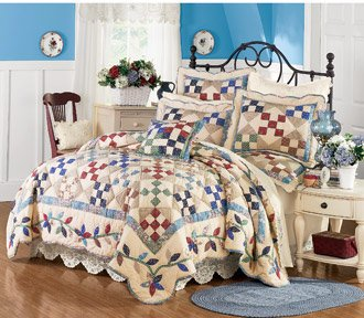 Mrs. Sadie Handmade Cotton Quilt Set with FREE* Shams King or Queen