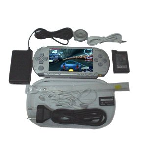 New Silver Sony PSP With 300 Games And Accessories