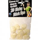 Bachelorette Party Glow in the Dark 3D Dicky Stick Ups 8 Pc.