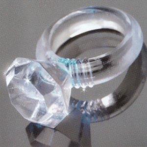 Last a Lifetime Soft Jelly Diamond Love Ring Clear