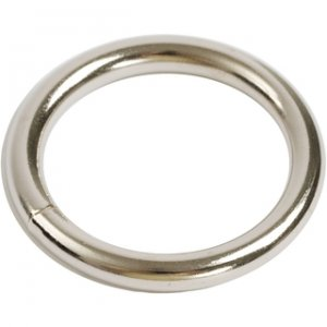 Nickel Plated Adornment Cockring 1.5 Inch