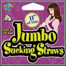 Jumbo Sucking Straw 11 Inch Glow in the Dark