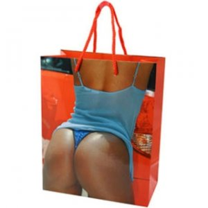 Blue Sequin Thong Gift Bag