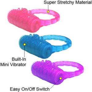 Vibrating Jelly Cock Ring Assorted Colors