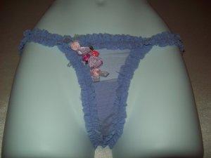 Fairy Princess Rosettes and Ruffles Thong Medium Lavender
