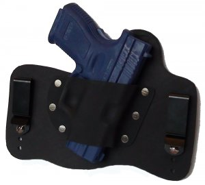 FOXX Leather and Kydex IWB Holster Springfield XD Subcompact 9/40 Hybrid Holster Black Right