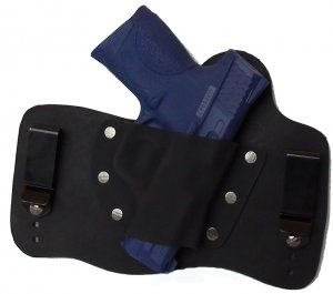 FOXX Leather and Kydex IWB Holster Smith & Wesson M&P Compact Hybrid Holster Black