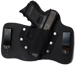 FOXX Leather and Kydex IWB Holster Glock 26, 27 and 33 Hybrid Holster Black