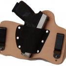 FoxX Leather & Kydex IWB Holster Kahr CM9, CW9, P9 & PM9 Hybrid Holster RH Natur