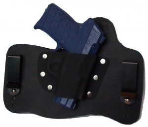 FoxX Leather & Kydex IWB Holster Kel Tec PF9 Hybrid RH Black