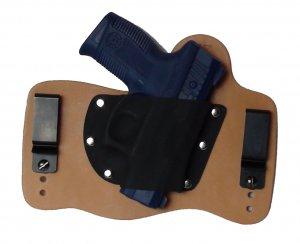 FoxX Leather & Kydex IWB Holster Taurus Pro PT111, PT140, PT145 Holster RH Nat