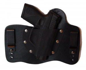 FoxX Leather & Kydex IWB Holster Taurus PT709 Slim 9MM Hybrid Holster RH Black