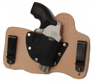 foxx leather kydex iwb hybrid holster smith wesson j frame revolver rh natur