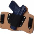 FoxX Leather & Kydex IWB Holster Ruger SR40c & Full Size SR40 Hybrid RH Natural