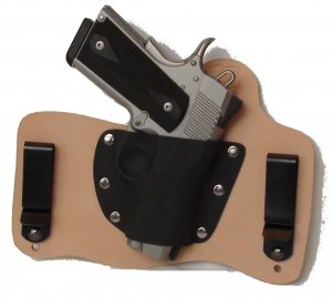 FoxX Leather & Kydex IWB Holster Springfield 1911 Ultra Compact Natural RH