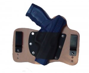 FoxX Leather & Kydex IWB Holster Taurus 24/7 Hybrid Holster RH Natural/Tan