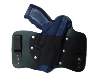 FoxX Leather & Kydex IWB Holster Taurus 24/7 Hybrid Holster RH Black