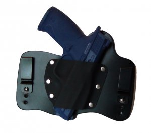 FoxX Leather & Kydex IWB Hybrid Holster S&W M&P Fullsize 9mm,40 and 45 cal Black
