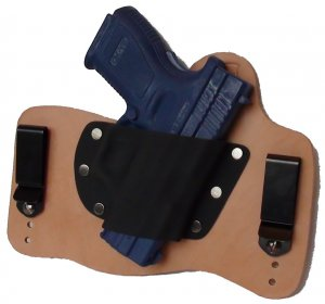 "FoxX Leather & Kydex IWB Holster Springfield XD9 & XD40 Service Model 4"" RH Nat"