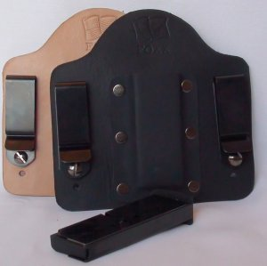 FoxX Leather & Kydex IWB  Magazine Holster Carrier Kel Tec PF9 9mm