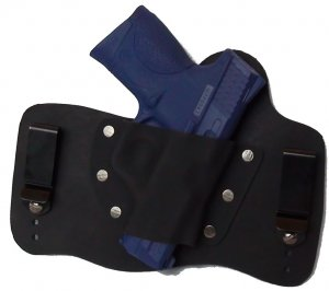 FoxX Leather & Kydex IWB Hybrid Holster S&W M&P Compact 9mm,40 and 45 cal Black