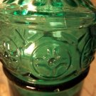 antique vintage green glass bottle