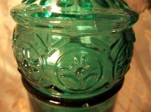 antique vintage green glass bottle