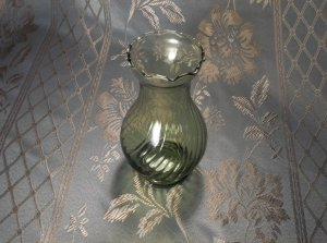 Green depression glass antique vintage vase