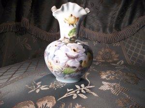 Porcelain antique vintage hand-painted signed T. Nagasaki vase