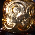 Vintage depression glass gold jar
