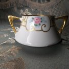 Z.S.& C. vintage antique hand painted porcelain sugar bowl