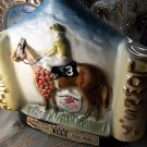 antique vintage 1971 Kentucky Derby Jim Beam Whiskey Collectors Bottle bottle