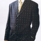 PINSTRIPE 4 BUTTON SUIT W/ VEST