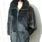 Womans SOFT Sheared Fur Coat Size Medium/ Large