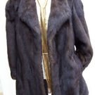 JUST REDUCED Gorgeous Vintage Mahogany Mink Coat Past Hip Size Medium/Large
