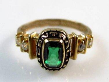 10K Gold 1989 Class Ring w/ Spinel & CZ - 2.7g sz 6.5