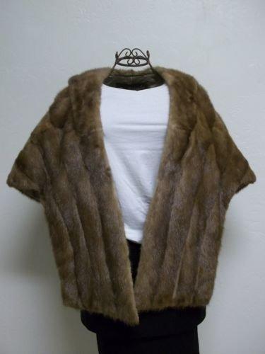 Vintage Genuine Mink Stole Renbrooke Furs Exclusive With Crowley's Detroit