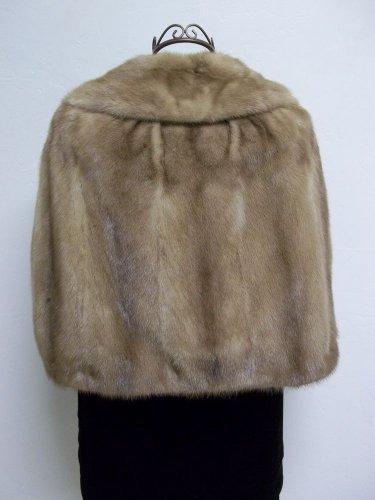 Luxurious Amazingly Soft Tan Mink Cape Petersen's Fine Furs Women's Medium