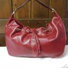 Liz Claiborne Faux Red Pebbled Leather Shoulder Bag