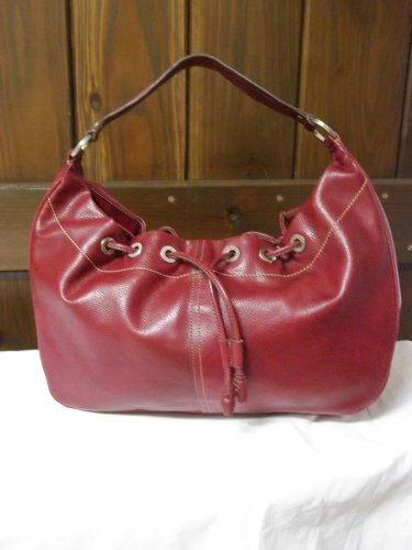 Liz Claiborne Faux Red Pebbled Leather Shoulder Bag