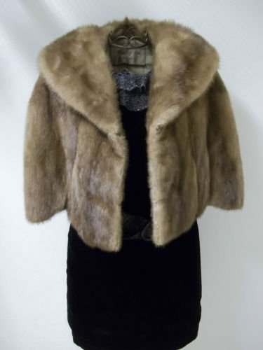 Soft Silky Tan Mink Cape by Stanley Furs Size Medium