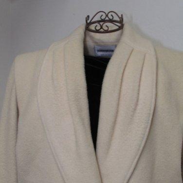 Donnybrook Full Length Cream Wool Coat Size 10