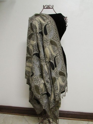 Gorgeous Pashmina And Silk Scarf, Shawl