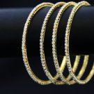 Golden crystal bangles - Indian bangles